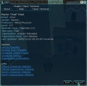 Vhab Character Info